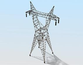 3D asset High Voltage Tower
