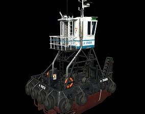 3D asset Truckable Push Boat