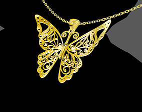 Special Butterfly Pendant jewelry Gold 3D printable model