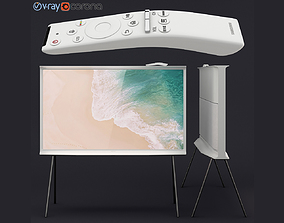 Samsung QLED The Serif TV 2019 white 3D model
