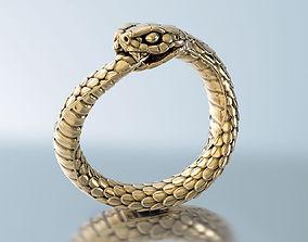 jewellery 3D print model Snake Ring Ouroboros