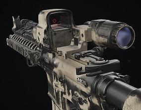 Daniel Defense MK18 Painted 3D model