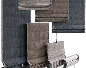 fabric Roman blinds 3D model