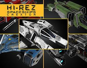 3D asset Hi-Rez Spaceships Creator