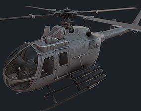 MBB Bo 105 3D asset game-ready
