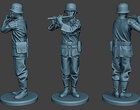 German musician soldier ww2 Stand piccolo 3D print model