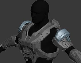 Reach Operator Shoulder Wearable 3D Print Model