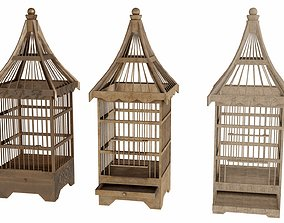 3D model Old bird-cage