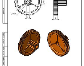 3D print model Gearwheel 63 and 11