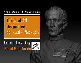 3D print model Peter Cushing - Grand Moff Tarkin - Star