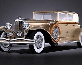 3D model Duesenberg J 232 1930 sedan VRAY