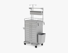 Medical Supply Cart Type 1 3D model