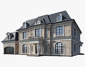 flat Classic house 1 3D