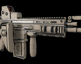 3D model fn scar rifle