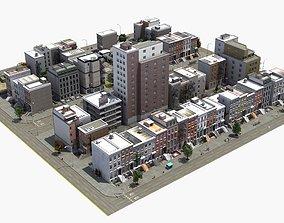 Residential City Block 3D model construction
