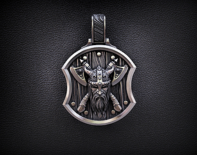pendant warrior with axes 3D printable model