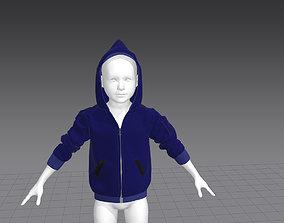 3D asset low-poly JACKET KIDS