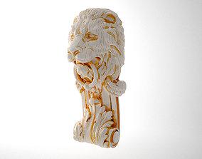 bracket with lion head 3D print model