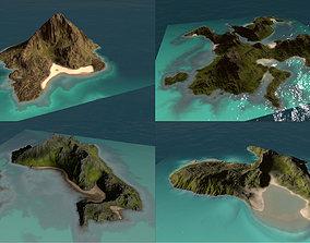 Bundle of islands in obj 3D model
