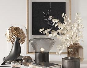 3D Black decorative set