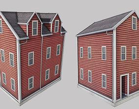 3D asset low-poly Boston House