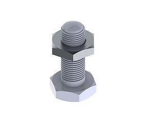 3D Nut bolt assembly