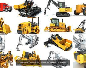 3D Industrial Construction Machines Models