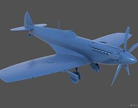 3D print model SuperMarine Spitfire MK XII