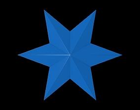3D asset 6 Point Star