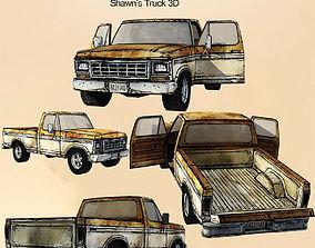 Shawns vehicle cartoon truck 3d models low VR / AR ready
