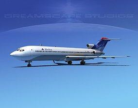 Boeing 727-200 Delta Airlines 3 3D