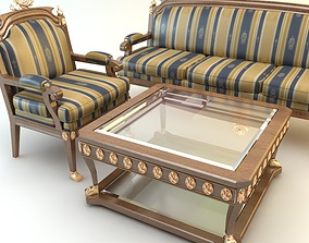 3D Table Armchair Divan Set