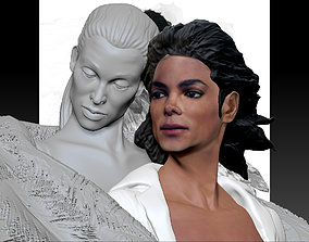 3D printable model Michael Jackson with Angel Will You 3