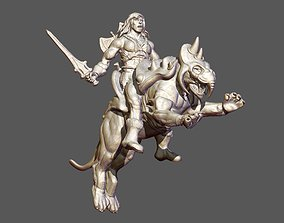 3D print model Heman and BattleCat