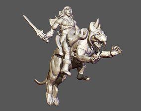3D printable model Heman and BattleCat sculpture