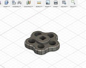 Water valve knob 3D printable model