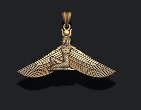 Isis pendant egyptian 3D print model