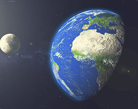 3D Earth with Moon