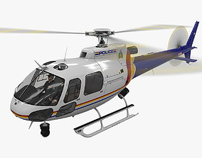 AS-350 Royal Canadian Mounted Police 3D asset