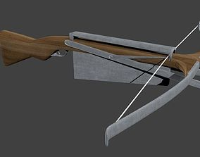 3D model animated low-poly CrossBow