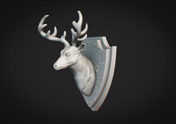 Deer Head Sculpt