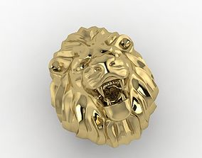 rings necklace LION RING 3D print model