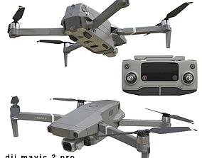 3D model DJI Mavic PRO 2 and Smart Controller