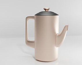 Modern tea pot 3D model rigged