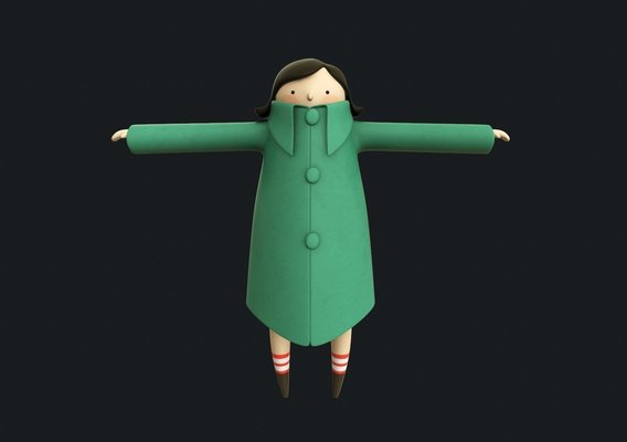 Stylized Girl 3d toon Model