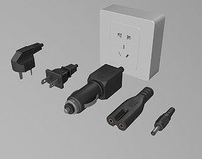 adapter power plug 3D model