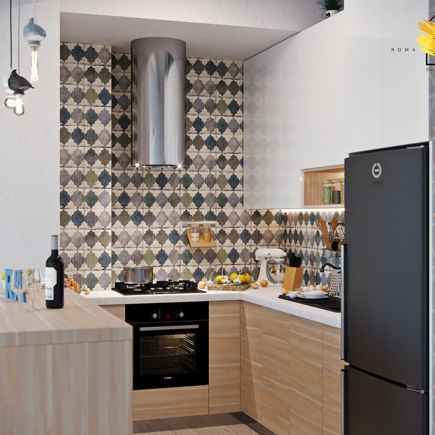 Kitchen. Free layout with tight restrictions. Tbilisi city