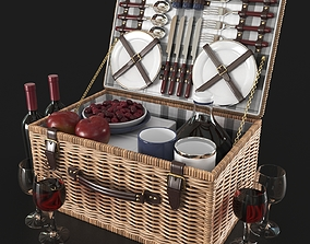 NEWBURY picnic basket decor set 3D model