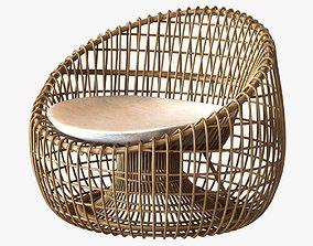 Cane Line Nest lounge chair 3D