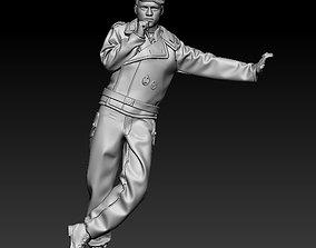 3D print model WW2 German tank crewman thinking